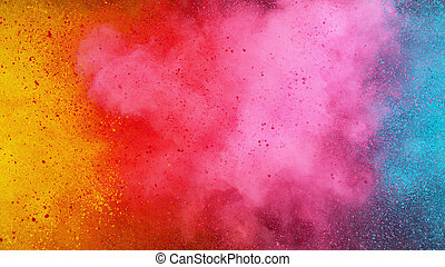 Colorful abstract powder background with color spectrum