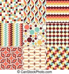 Colorful abstract retro stylish seamless geometric cushion...