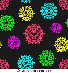 Colorful abstract seamless pattern. Can be used in the background, for the design of packaging, labels.