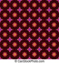 colorful abstract seamless texture consisting of various fractal shapes and ornament