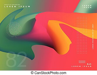 colorful abstract shape poster background