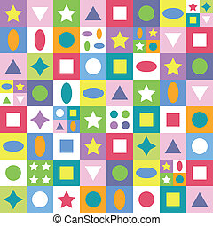 colorful abstract shapes pattern