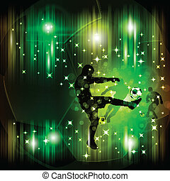 Colorful abstract soccer poster