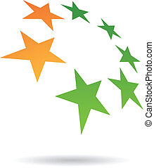Colorful Abstract Star Icon