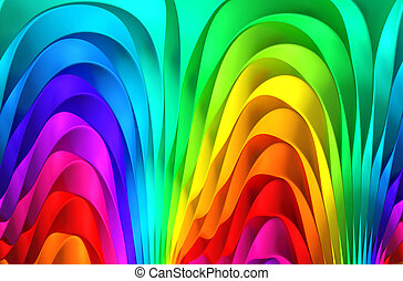 Colorful abstract stripe background 3d illustration