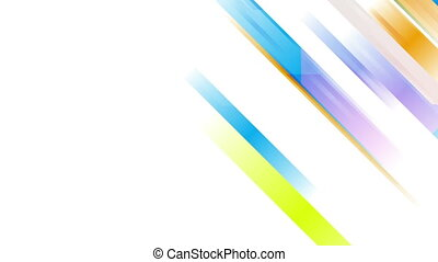 Colorful abstract stripes tech video animation - Colorful...
