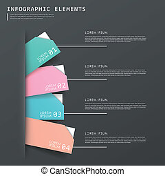colorful abstract tag infographic elements set
