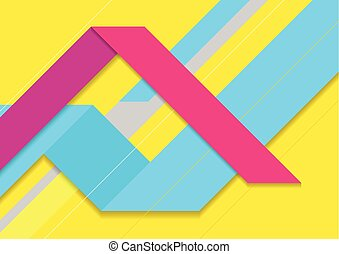 Colorful abstract tech minimal background