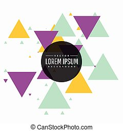 colorful abstract triangle background design