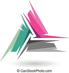 Colorful Abstract Triangle Symbol of Letter A - Design ...