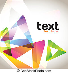 Colorful Abstract Triangles - Colorful background with copy...