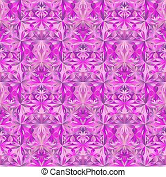 Colorful abstract triangular flower pattern background design