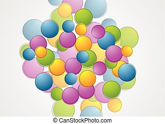 Colorful abstract vector circles background