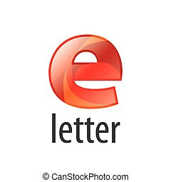 colorful abstract vector logo letter E