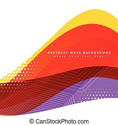 colorful abstract vector wave background design