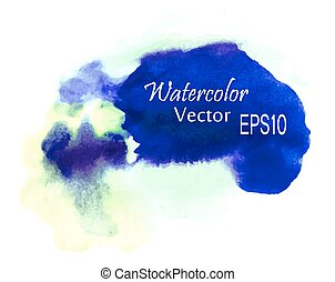 Colorful Abstract watercolor art hand paint on white background.
