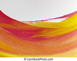Abstract watercolor painted background - Colorful Abstract ...