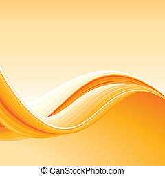 Colorful Abstract Orange Wave Background, editable vector illustration