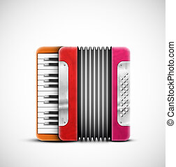 Colorful accordion - Isolated colorful accordion. Eps 10