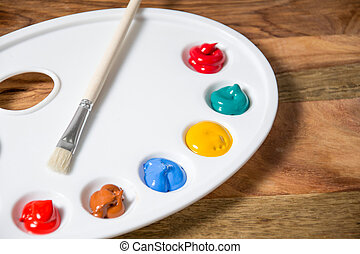 colorful acrylic paints