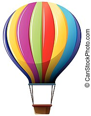 Colorful air balloon on white background