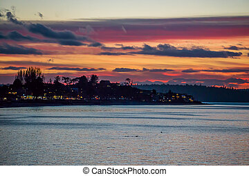 Colorful Alki Sunset 3