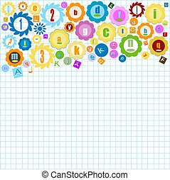 colorful alphabet - colorful background with alphabet theme...