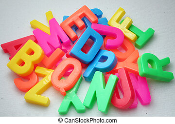 alphabet  - colorful alphabet for school