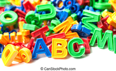 colorful alphabet letter ABC isolated on white background