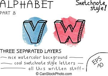 Colorful alphabet - Part 8