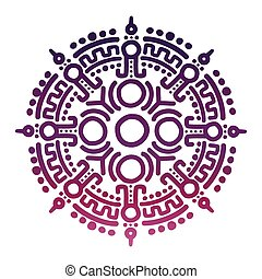 Colorful ancient mexican mythology symbol