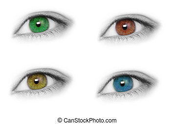 Colorful and beautiful eyes