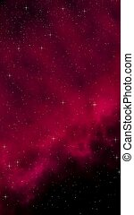 Colorful and beautiful space background. Outer space. Starry outer space texture. Templates, red background Design of websites, mobile devices and applications. 3D illustration
