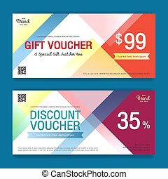 Colorful and modern discount voucher or gift voucher for ...