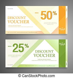 Colorful and modern discount voucher or gift voucher for...