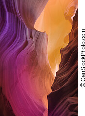 Colorful Antelope Canyon, Page, Arizona, USA