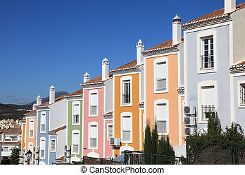 Colorful apartment building in Andalusia, southern Spain