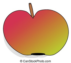 Colorful apple on a white background