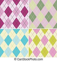 colorful argyle pattern seamless pattern fabric texture yeni.eps