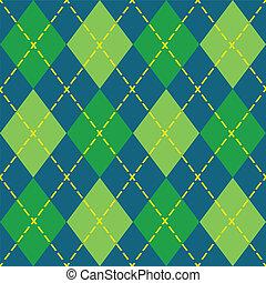 Colorful argyle seamless pattern