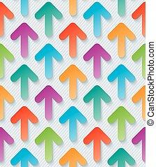 Colorful arrow 3d wallpaper.