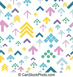 Colorful Arrow Background on White. Vector