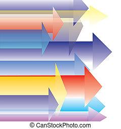 Colorful Arrow Direct Forward Destination