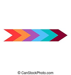 Colorful arrow icon, flat style
