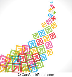 colorful arrow move up background v
