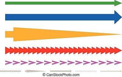 Colorful arrow shapes