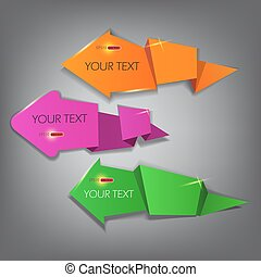 Colorful arrow stickers labels and tags