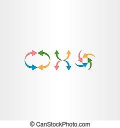 colorful arrow vector icon set element