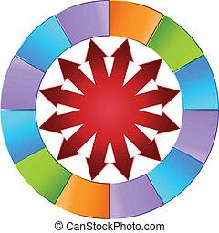 Colorful Arrow Wheel