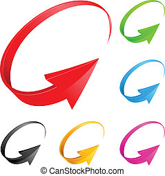 Colorful arrows. Illustration for design on white background...